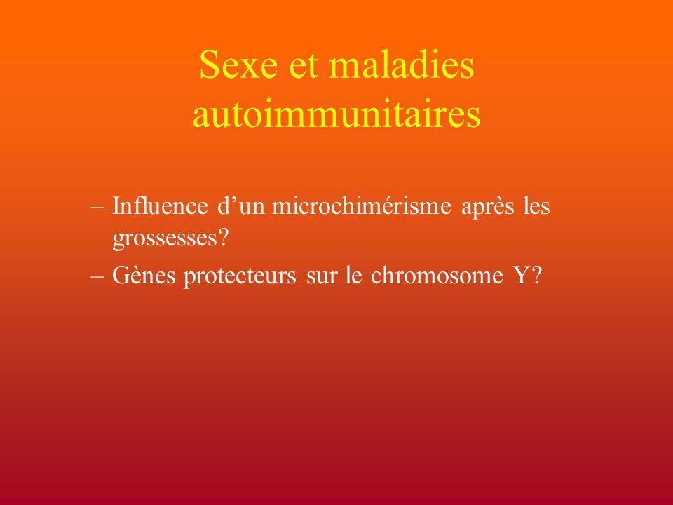 Sexe et maladies autoimmunitaires