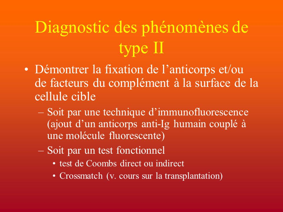 Diagnostic des phénomènes de type II