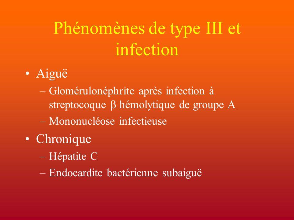 Phénomènes de type III et infection