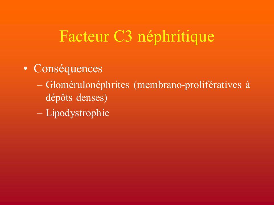 Facteur C3 néphritique Conséquences