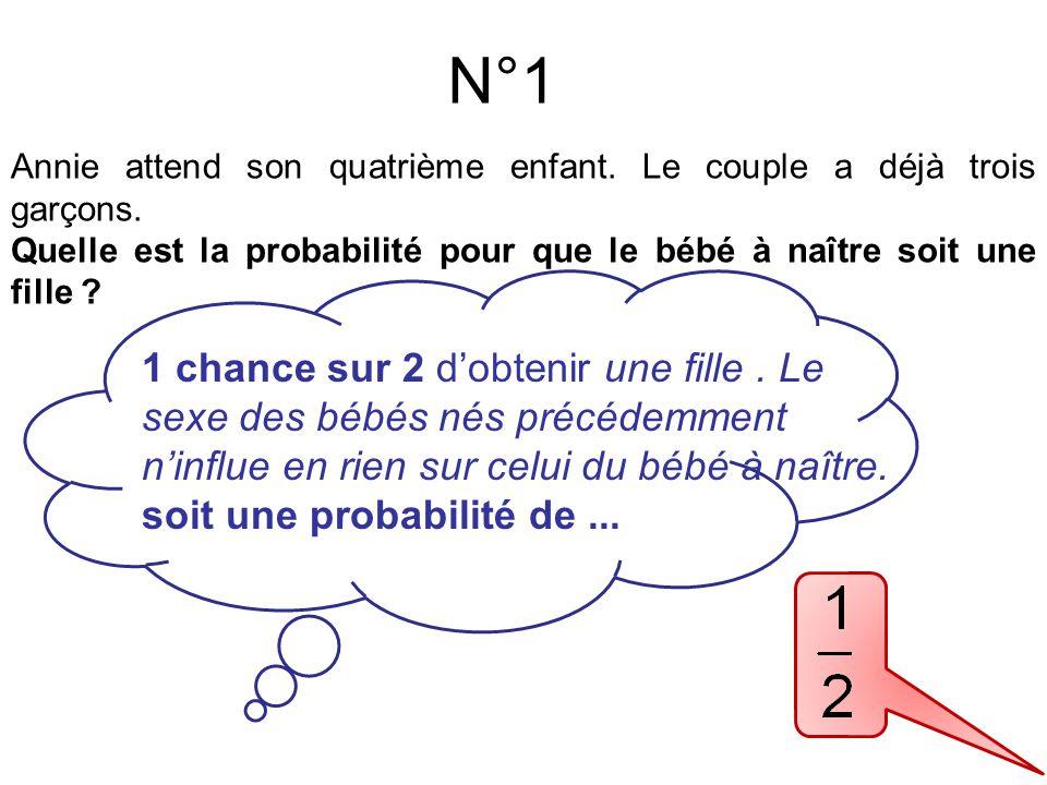 N°2 1 chance sur 6 de gagner 5 € soit une probabilité de ...