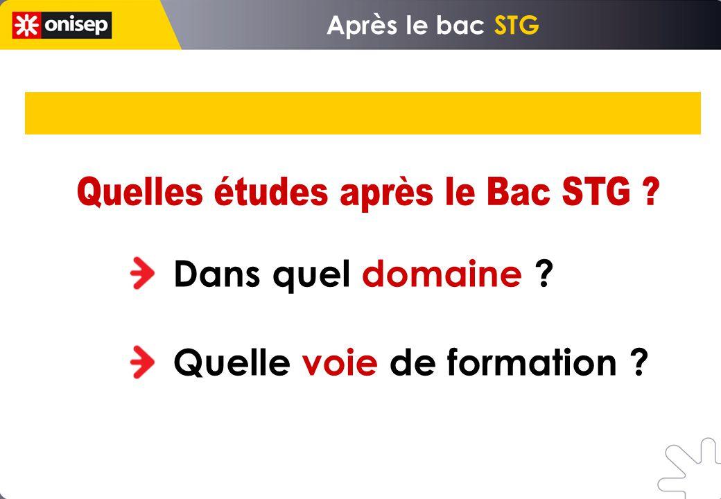 Quelles études après le Bac STG