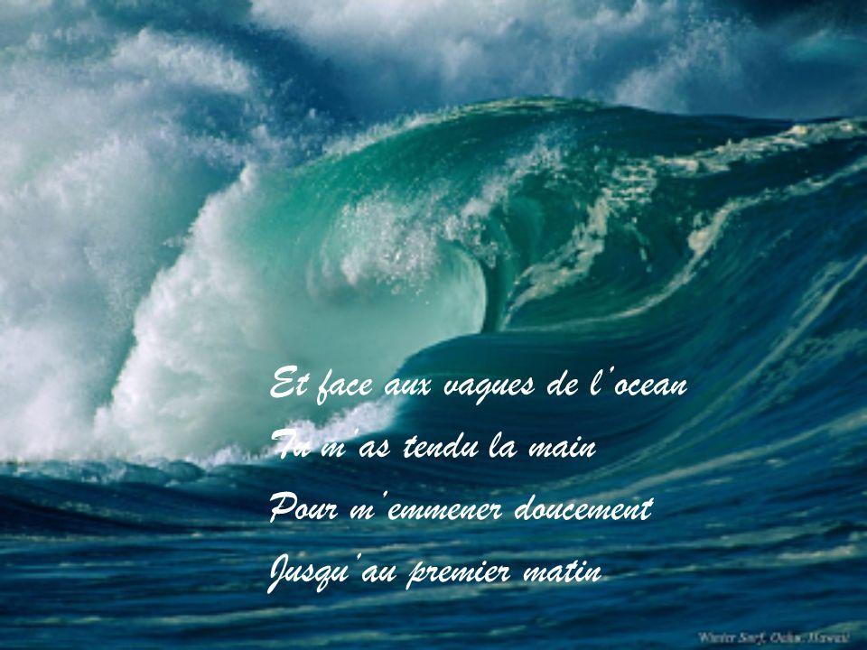 Et face aux vagues de l'ocean