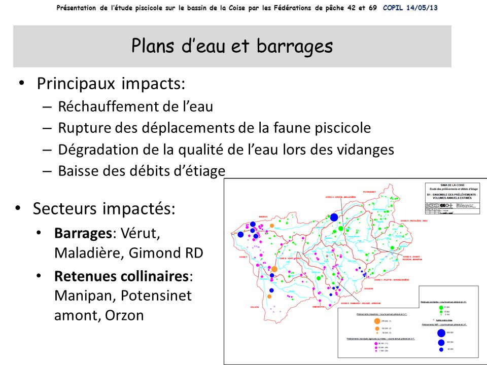 Plans d'eau et barrages