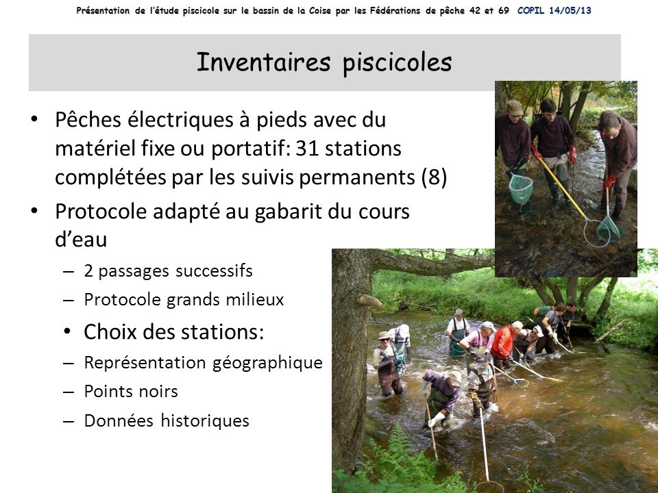 Inventaires piscicoles