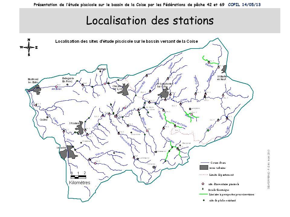 Localisation des stations