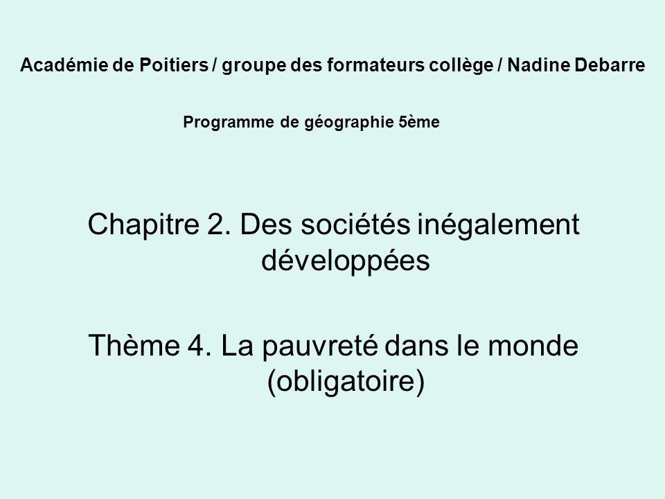 Académie de Poitiers / groupe des formateurs collège / Nadine Debarre