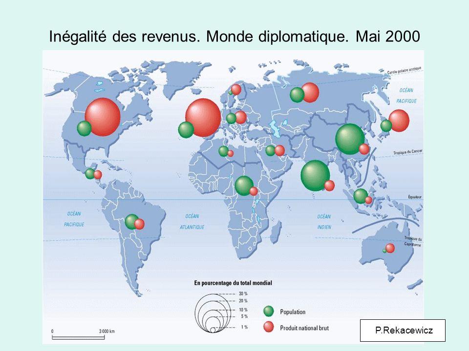Inégalité des revenus. Monde diplomatique. Mai 2000