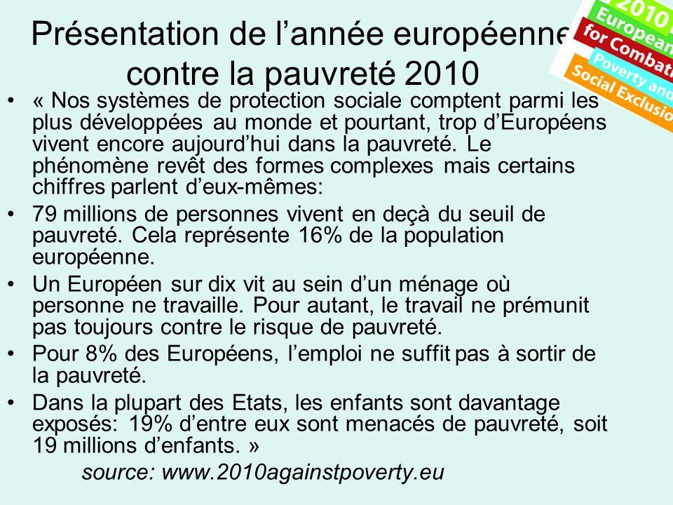 Présentation de l'année européenne contre la pauvreté 2010