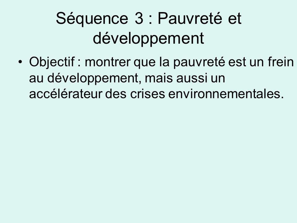 Séquence 3 : Pauvreté et développement
