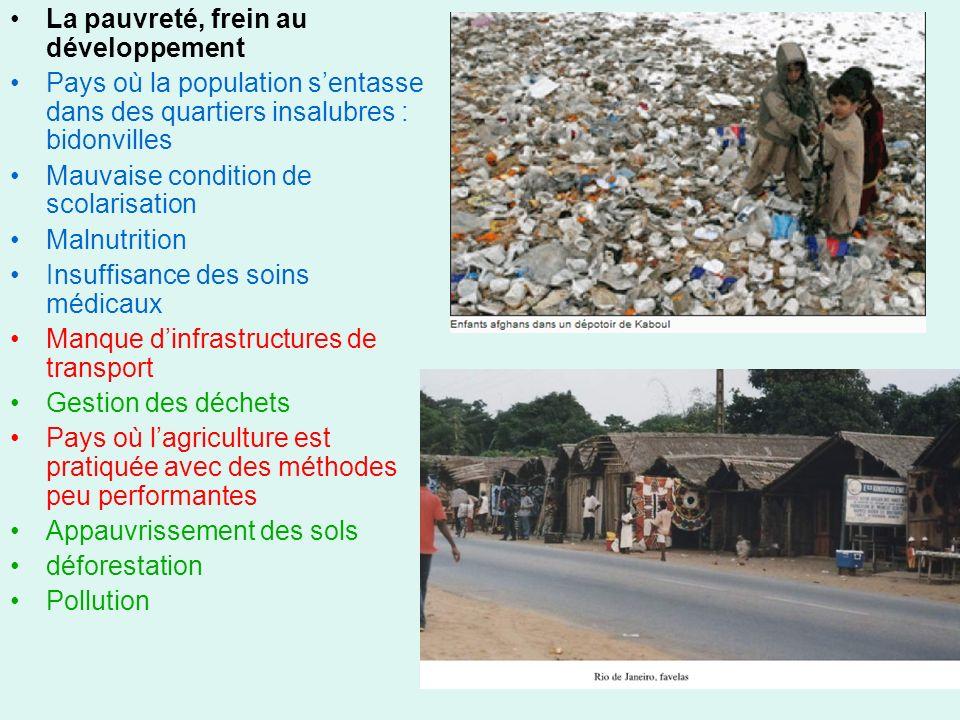 La pauvreté, frein au développement