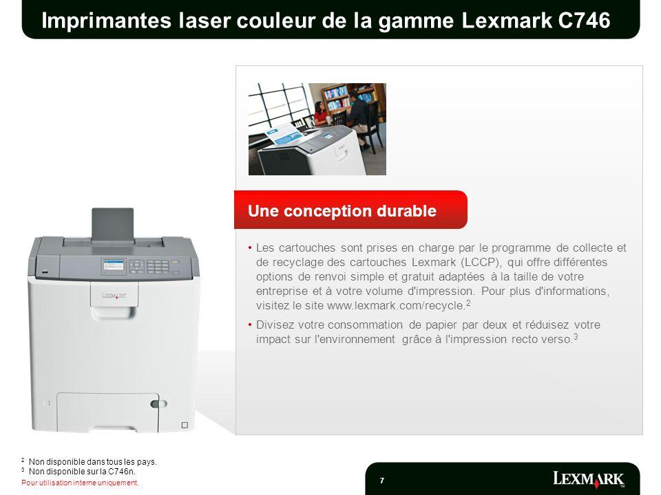 Imprimantes laser couleur de la gamme Lexmark C746