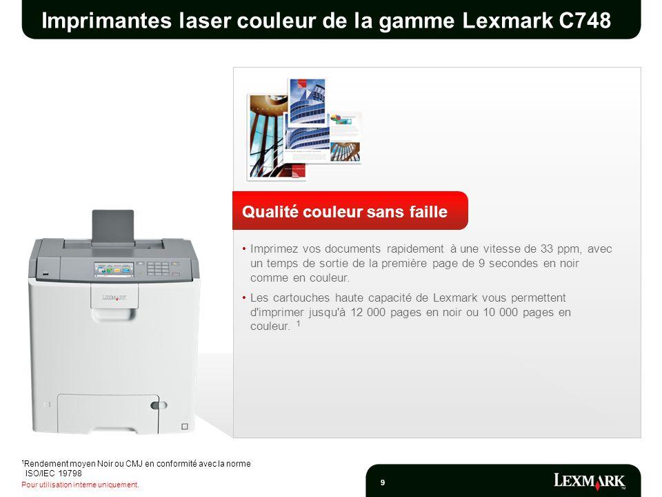 Imprimantes laser couleur de la gamme Lexmark C748