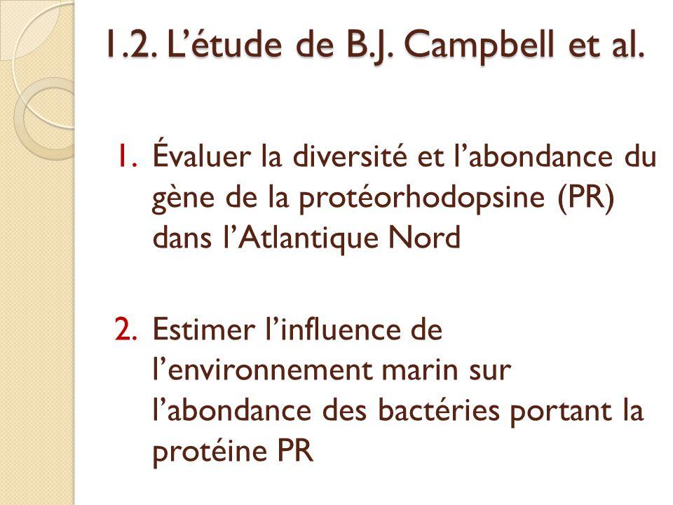 1.2. L'étude de B.J. Campbell et al.