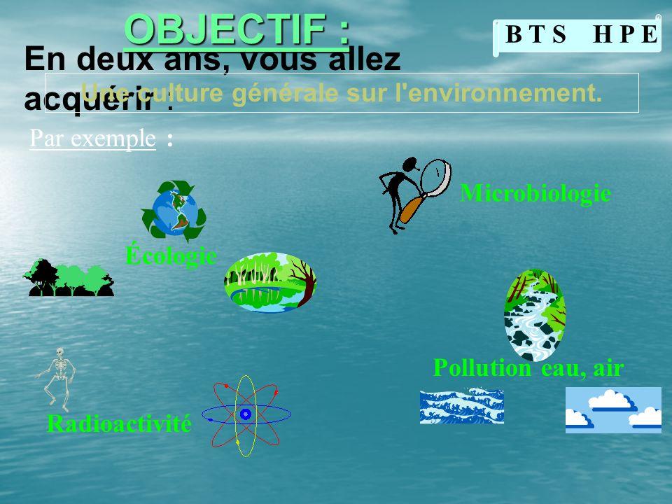 Une culture générale sur l environnement.