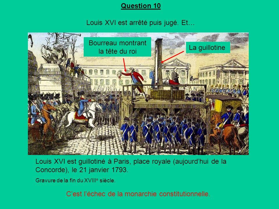 Question 10 Louis XVI est arrêté puis jugé. Et…