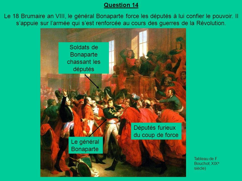 Soldats de Bonaparte chassant les députés
