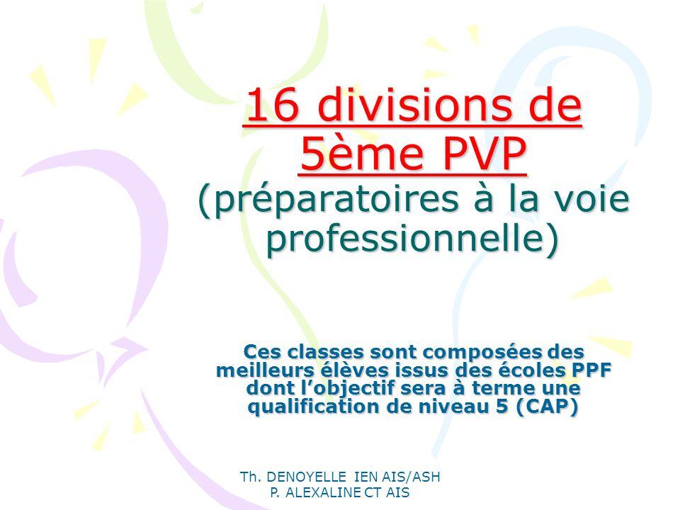 16 divisions de 5ème PVP (préparatoires à la voie professionnelle)