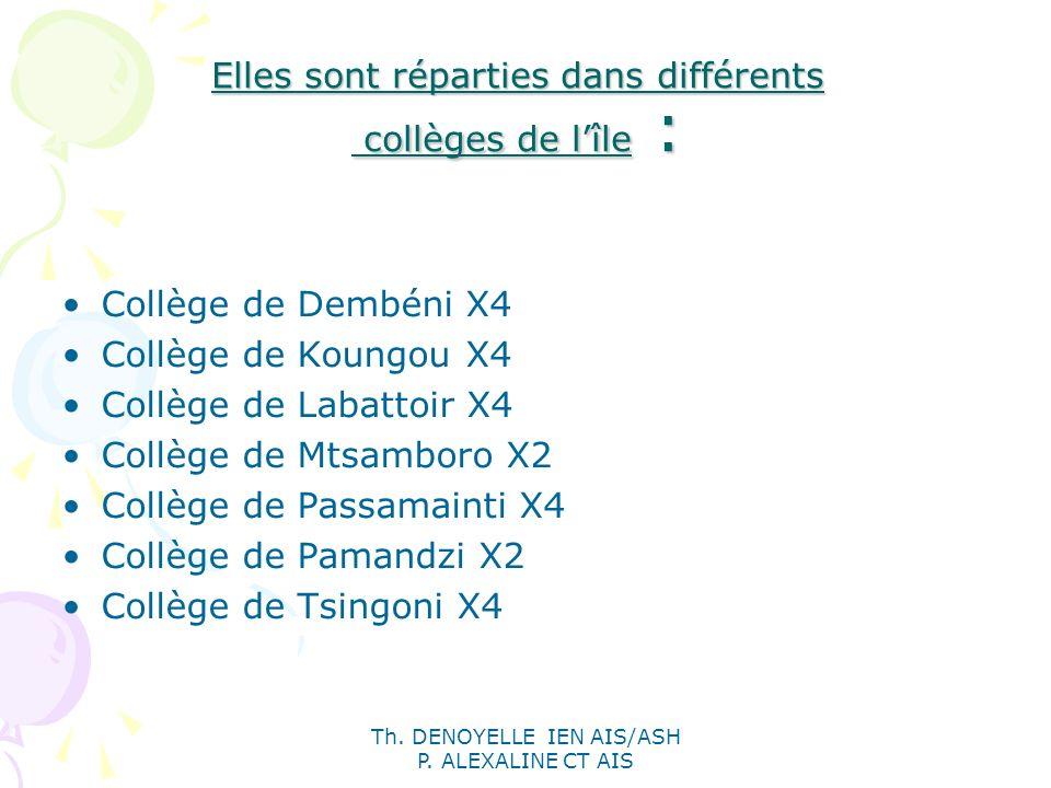 Elles sont réparties dans différents collèges de l'île :