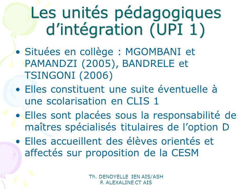 Les unités pédagogiques d'intégration (UPI 1)