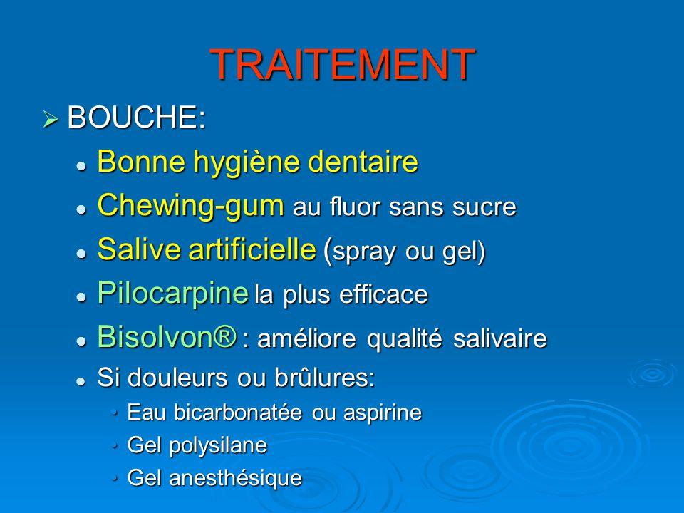 TRAITEMENT BOUCHE: Bonne hygiène dentaire