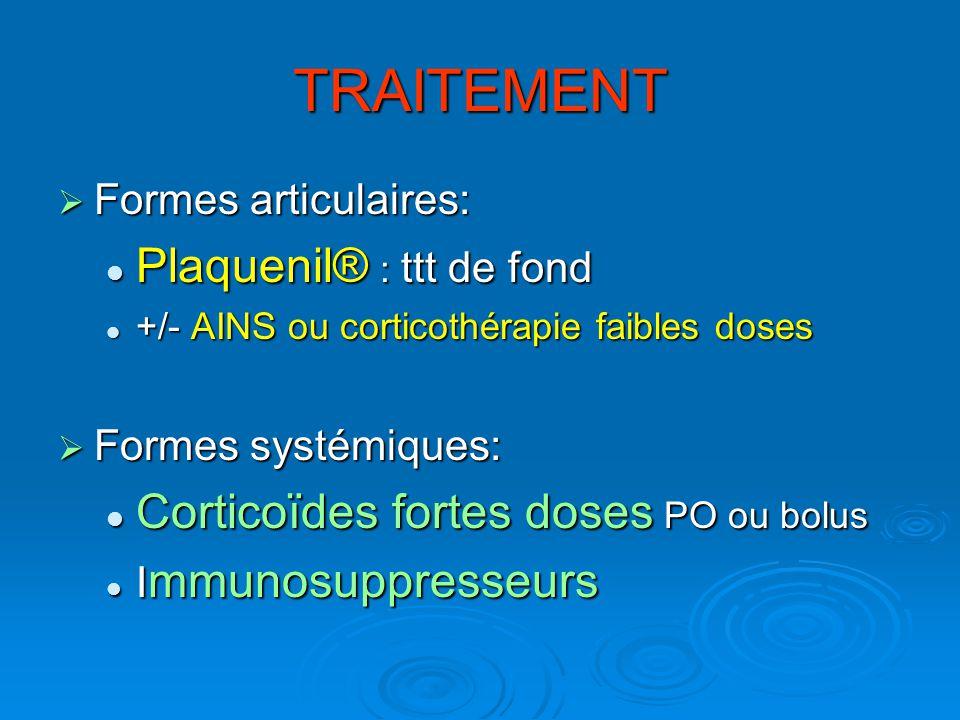 TRAITEMENT Plaquenil® : ttt de fond
