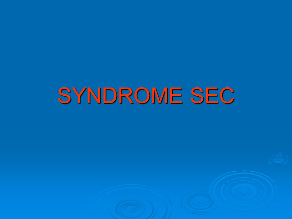 SYNDROME SEC