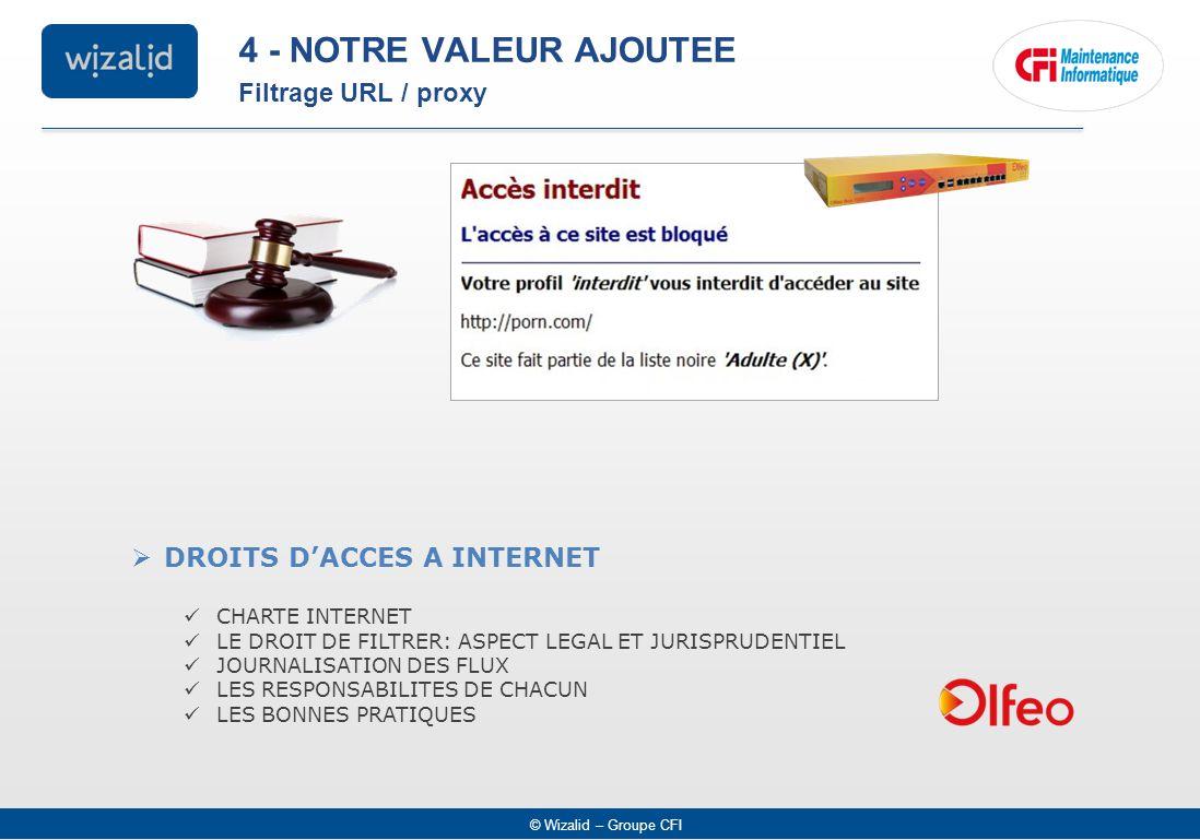 4 - NOTRE VALEUR AJOUTEE Filtrage URL / proxy