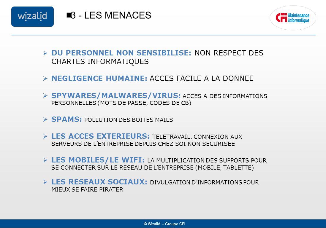 3 - LES MENACES DU PERSONNEL NON SENSIBILISE: NON RESPECT DES CHARTES INFORMATIQUES. NEGLIGENCE HUMAINE: ACCES FACILE A LA DONNEE.