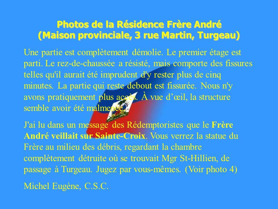 Photos de la Résidence Frère André (Maison provinciale, 3 rue Martin, Turgeau)