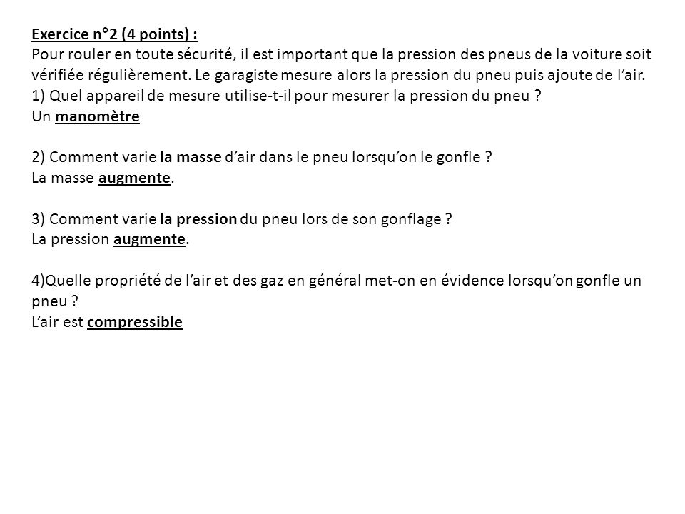 Exercice n°2 (4 points) :