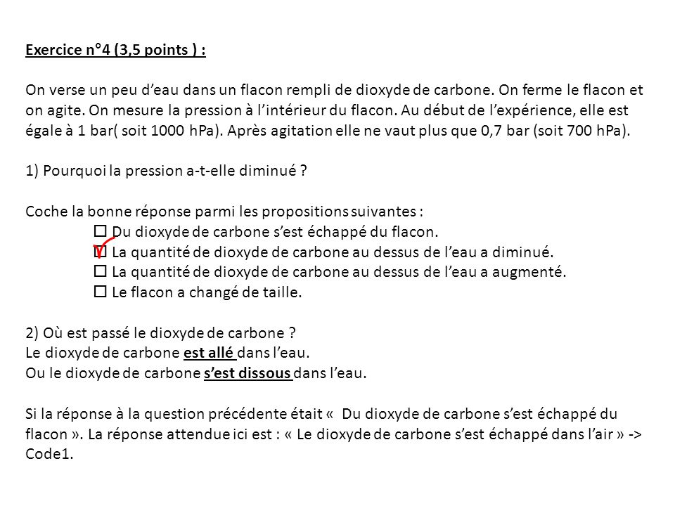 Exercice n°4 (3,5 points ) :