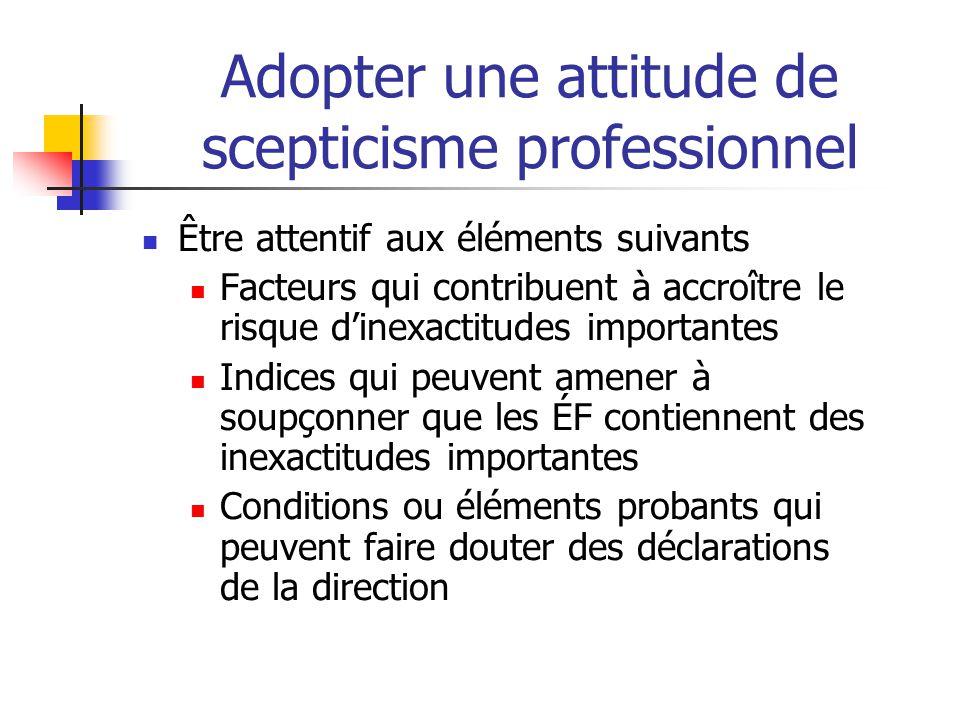 Adopter une attitude de scepticisme professionnel