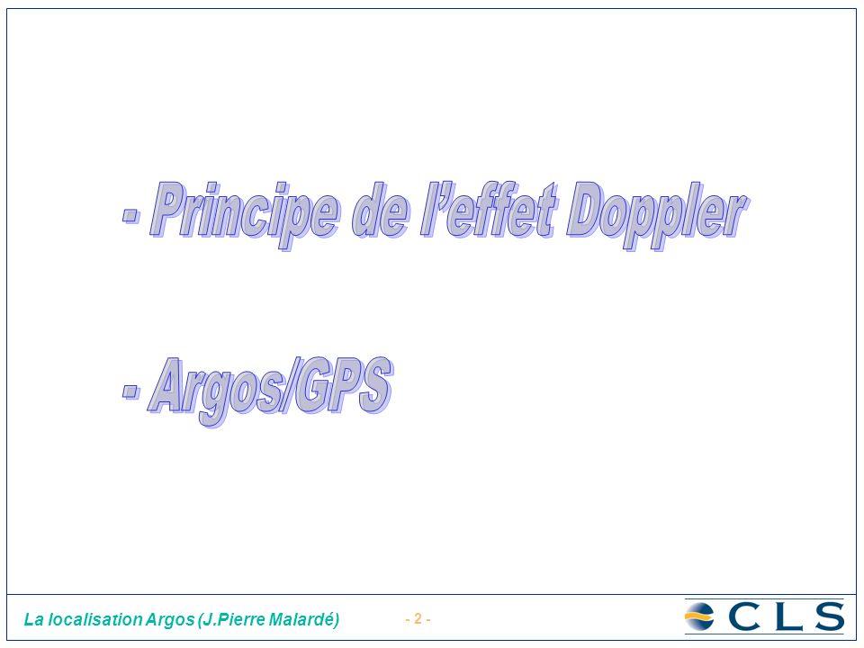 - Principe de l'effet Doppler