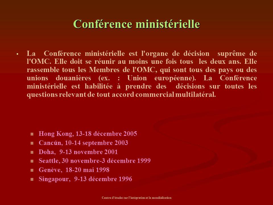 Conférence ministérielle