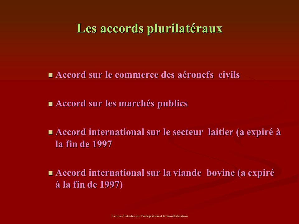 Les accords plurilatéraux
