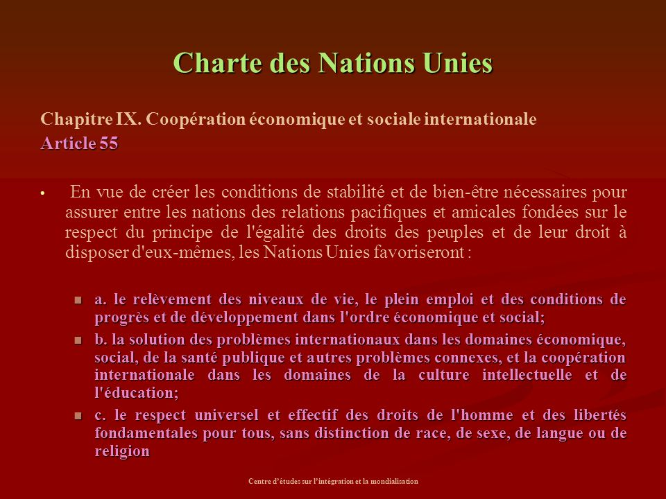 Charte des Nations Unies