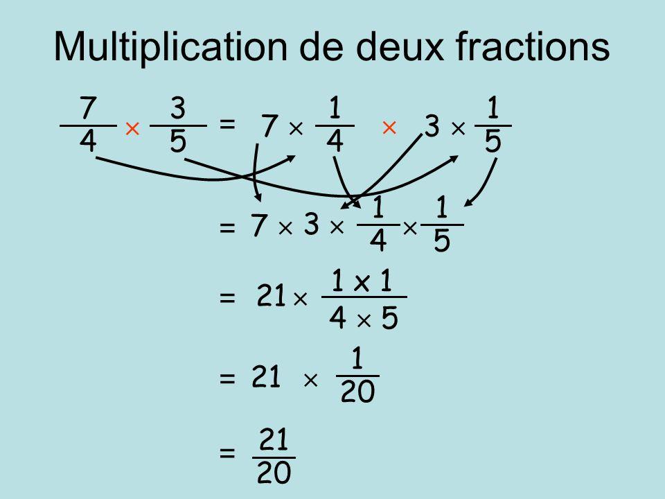 Multiplication de deux fractions