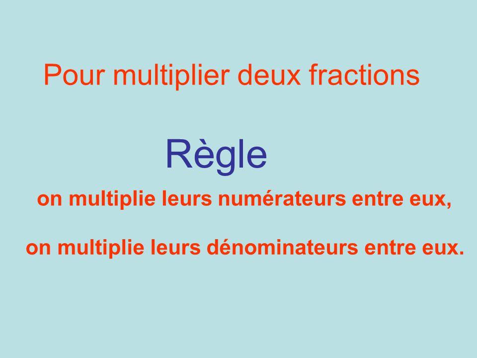 Pour multiplier deux fractions
