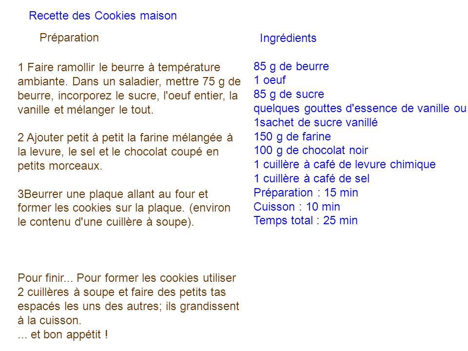 Ingrédients 85 g de beurre. 1 oeuf. 85 g de sucre. quelques gouttes d essence de vanille ou 1sachet de sucre vanillé.