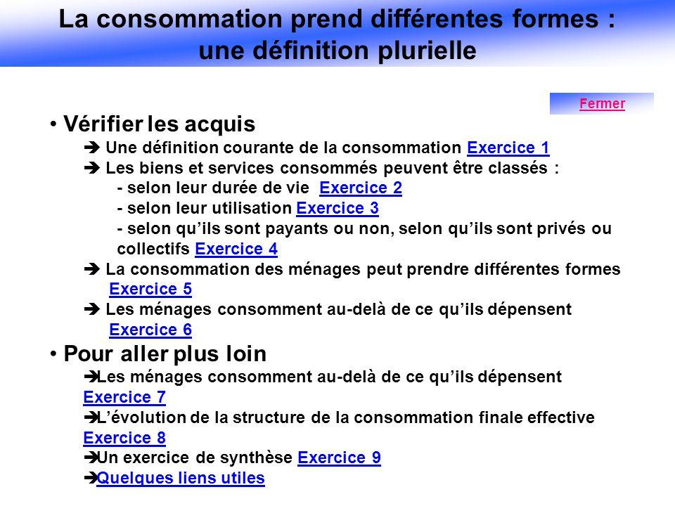 La consommation prend différentes formes : une définition plurielle