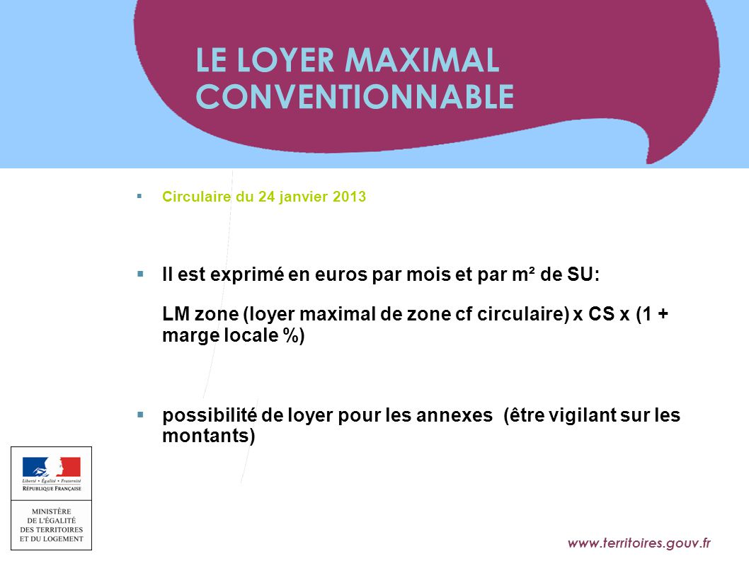 LE LOYER MAXIMAL CONVENTIONNABLE