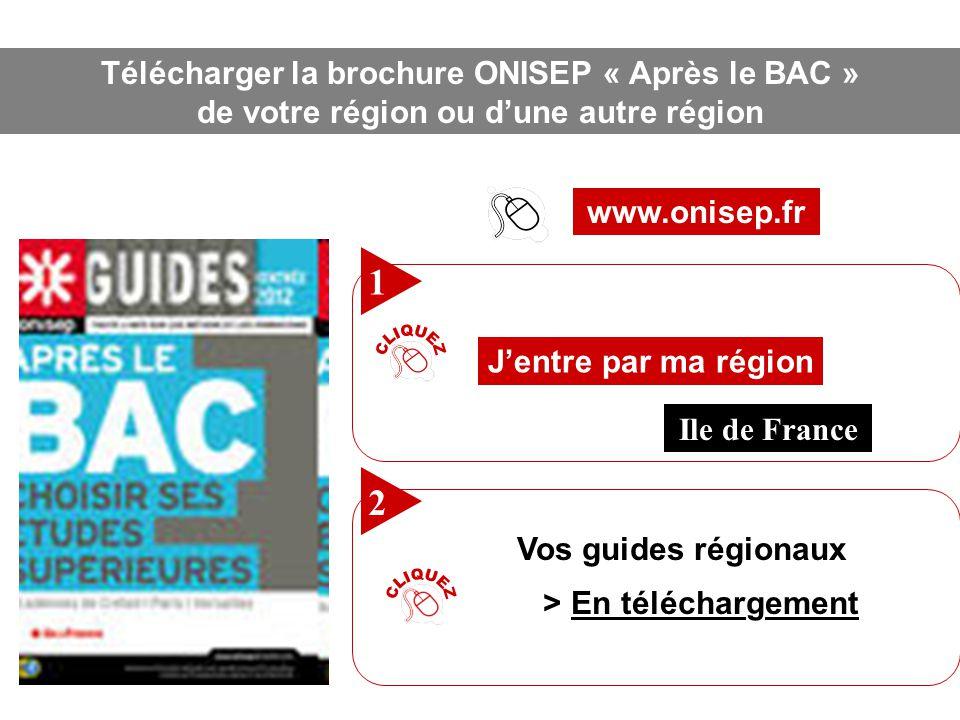 CLIQUEZ CLIQUEZ 1 2 Télécharger la brochure ONISEP « Après le BAC »