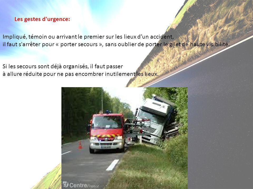Les gestes d urgence: Impliqué, témoin ou arrivant le premier sur les lieux d'un accident,