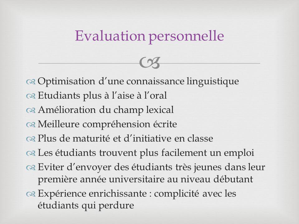Evaluation personnelle