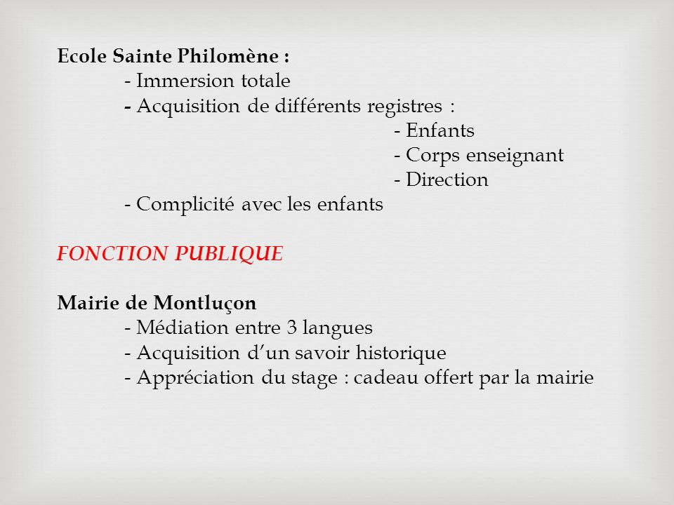 Ecole Sainte Philomène :
