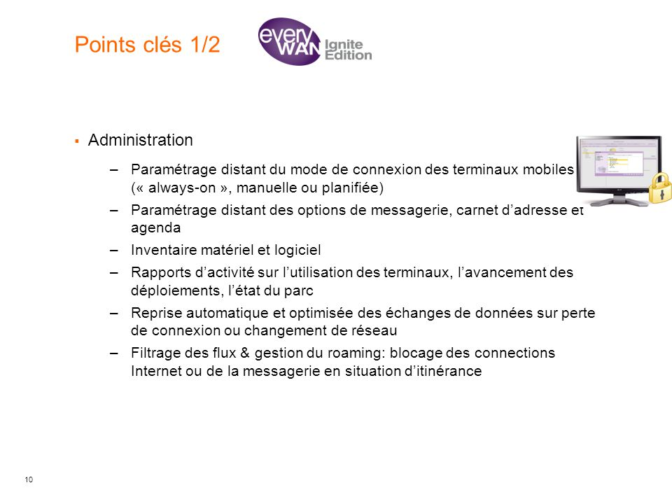 Points clés 1/2 Administration