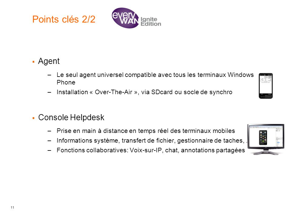 Points clés 2/2 Agent Console Helpdesk