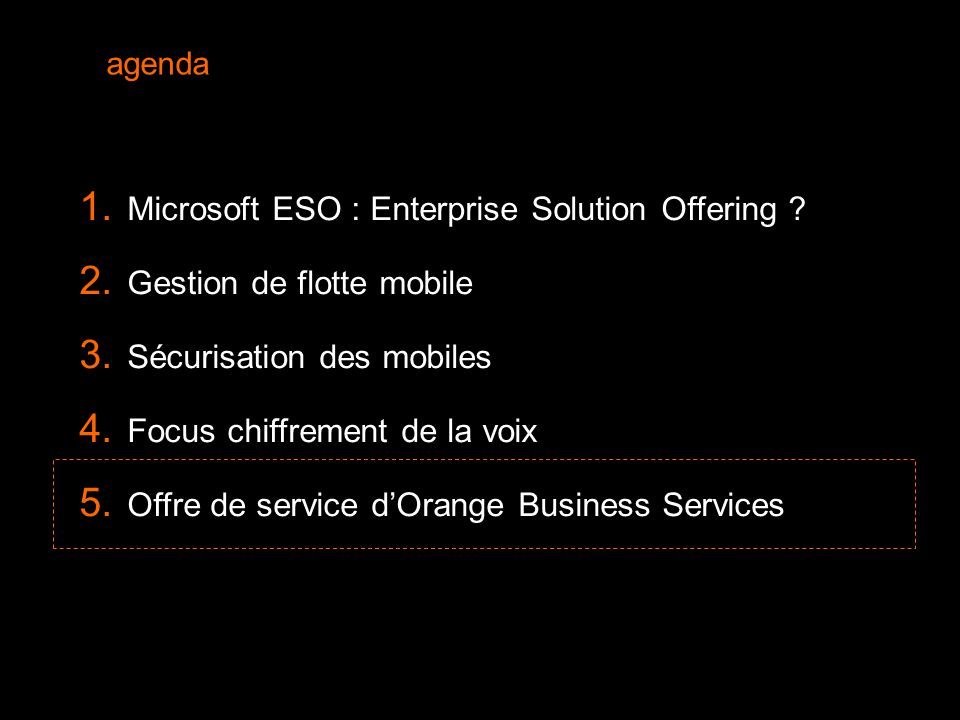 Microsoft ESO : Enterprise Solution Offering
