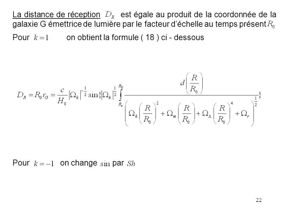 Pour on obtient la formule ( 18 ) ci - dessous Pour on change par